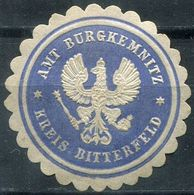 Siegelmarke - Amt BURGKEMNITZ, Kreis BITTERFELD - Vecchi Documenti