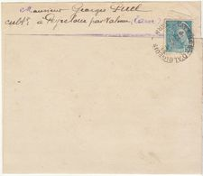Tarn, Convocation Légion Française Des Combattants Journée Du 18/10/1942 50c.o.Valence D'Albigeois (2 Scans) - Marcophilie (Lettres)