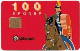 Denmark - Danmønt - Horse Guard - DD011B - 100Kr. Exp. 09.1994, 1.653ex, Used - Danemark