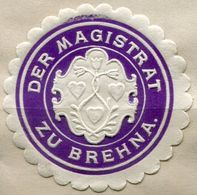 Siegelmarke - Der Magistrat Zu BREHNA (Kreis BITTERFELD), Violett - Vecchi Documenti
