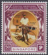 Singapore 2001 - Postal Services Through The Years: Postman - Mi 1582 ** MNH [1118] - Wielrennen