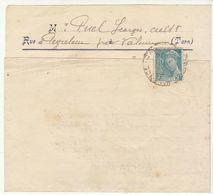 Tarn, Convocation Légion Française Des Combattants De Valence 1942 50c.o.Valence D'Albigeois (2 Scans) - Marcophilie (Lettres)