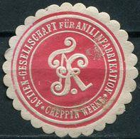 Siegelmarke - Actien-Gesellschaft Für Anilinfabrikation (= AGFA), GREPPIN WERKE (Kreis BITTERFELD) - Vecchi Documenti