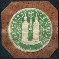Siegelmarke - JESSNITZ S Civitatis (Kreis BITTERFELD), Grün - Vecchi Documenti