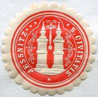 Siegelmarke - JESSNITZ S Civitatis (Kreis BITTERFELD), Rot - Vecchi Documenti