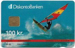 Denmark - Danmønt - Surfer - DD007 - 100Kr. Exp. 09.1993, 1.500ex, Used - Danemark