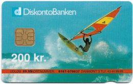 Denmark - Danmønt - Surfer - DD035 - 200Kr. Exp. 09.1995, 1.250ex, Used - Danemark