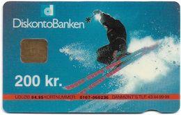 Denmark - Danmønt - Skier - DD025 - 200Kr. Exp. 04.1995, 1.231ex, Used - Danemark
