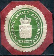 Siegelmarke - Herzogl.Anhalt.Amtsgericht JESSNITZ (Kreis BITTERFELD) - Vecchi Documenti