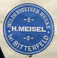 Siegelmarke - MULDENSTEINER Werke H.Meisel Bei BITTERFELD - Vecchi Documenti