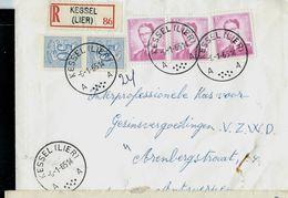 Doc. De KESSEL ( LIER )  - A A - Du 06/01/65 En Rec.  (E) - Postmark Collection