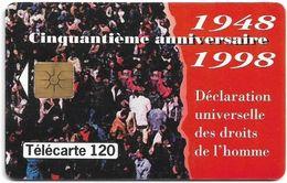Monaco - MF51 - 1948-1998 Droits De L'Homme - Gem1B Not Symm. White/Gold, 09.1998, 120Units, 50.500ex, Used - Monaco
