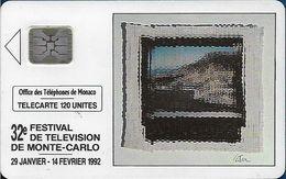 Monaco - MF22b (356) - Festival De Télévision - Cn. 35356, SC4 SB, 01.1992, 120Units, 30.000ex, Used - Monaco