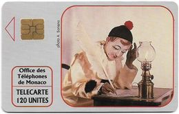 Monaco - MF20 (576) - Pierrot L'Ecrivain - Cn. A 1A5576, Solaic Afnor, 10.1991, 120Units, 20.000ex, Used - Monaco