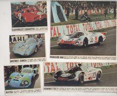 LE 24 ORE LE MANS NEL 1968...LOTTO..LOT..PILOTA....AUTO..CAR....VOITURE....CORSE...FORMULA 1 UNO - Automobile - F1