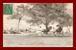 --annam Tourane Promenade En Pousse Pousse (scan Recto Verso) - Vietnam