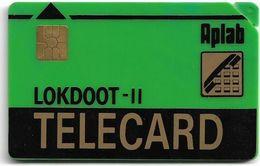 India - Aplab - LOKDOOT (Green), Chip Gem2 (Big) NOT Symmetric Black, Without Cn. Mint - Inde