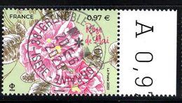 France 2020. Rose De Mai (de Feuille).Cachet Rond.Gomme D'origine. - Used Stamps