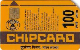 India - Aplab - (Yellow) Bringing Indians Closer, Chip APL 01, Cn. 008938, 100Units, Used - Inde
