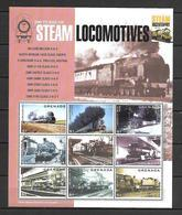 Grenada 2004 Steam Trains #1 Sheetlet MNH - Trains