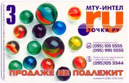 RUSSIA - RUSSIE - RUSSLAND MTU-INTEL TOCHKA.RU 3 UNITS PRE-PAID CARD MARBLES PERFECT - Russie