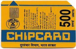 India - Aplab - (Yellow) Bringing Indians Closer, Chip APL 01, Cn.075966, 500U, Used - Inde
