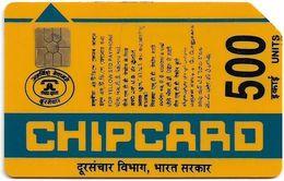 India - Aplab - (Yellow) Bringing Indians Closer, Chip Gem2 (Big) NOT Symmetric Black, Cn.079669, 500U, Used - Inde