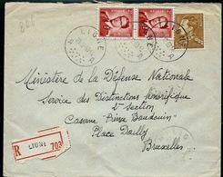 Doc. De LIGNE - A A - Du 23/02/53 En Rec.  (E) - Marcophilie