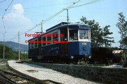Reproduction D'une Photographie D'un Tramway Opicina à Trieste En Italie En 1976 - Reproducciones