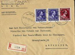 Doc. De LIER - D D - Du 12/01/51 En Rec.  (E) - Marcophilie