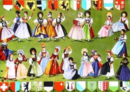 Carte Postale - Poupée Doll  Suisse - Poupées