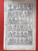 GRANDE Image Pieuse - 18ième - GRAVURE - IMAGES A AVALER !! - 18.5 Cm X 12 Cm - 36 DIFFERENTS SAINTS - Images Religieuses