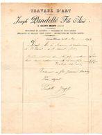 Facture à En-tête Publicitaire 1894 : Joseph PANDELLE Fils Aîné à SAINT MONT (Gers), Menuiserie, Escaliers, Meubles, ... - Petits Métiers