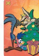 GREECE - Looney Tunes/Wile E.Coyote & Road Runner, Amimex Prepaid Card 3 Euro, Tirage 2000, Mint - Disney