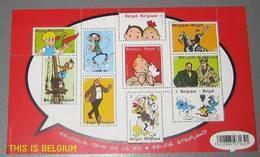 4258/67** Blok 201 MNH Tintin En Belgique, Pays De La BD** Kuifje In België, Stripland- This Is Belgium - Blocks & Sheetlets 1962-....