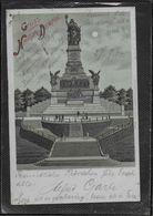 AK 0526 Gruss Vom National-Denkmal - Mondschein-Karte Um 1904 - Monuments