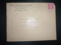 LETTRE TP M. DE MULLER 15F OBL.MEC.16-12 1955 ROUEN RP SEINE MARITIME (76) - Marcophilie (Lettres)