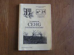 CEHG Revue N° 25 Gedinne Ardenne Métier Bois Bucheron Scierie Sabotiers Charbonniers Tenderie Forêt Dessin JC Servais - Culture