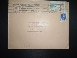 LETTRE TP ROYAN 10F + SAINTONGE 5F OBL.MEC.25-5 1955 ROUEN RP (76) SALON AVIATION LE BOURGET 10-19 JUIN 1955 - Marcophilie (Lettres)
