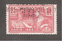 Perforé/perfin/lochung France No 184  DF Dormeuil Frères (45) - France