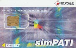 Indonesia, TLK-GSM-?, Telekomsel, SimPATI, GSM / SIM Card With Chip, 2 Scans. - Indonesia