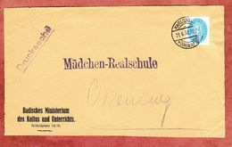Vorderseite, Dienstmarke, Ministerium Des Kultus Und Unterrichts Karlsruhe, Nach Offenburg 1932 (95780) - Germany