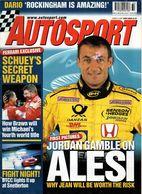 Autosport 2001 Jean Alesi Michael Schumacher Dario Franchitti Juha Kankkunen Christophe Bouchut - Deportes