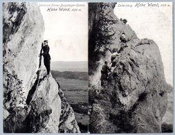 2 Alte Postkarten,Österreich,HOHE WAND,Turner Bergsteiger Kamin,Leitersteig - Gutenstein