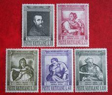 Todestag Michelangelos: Gemälde Painting 1964 Mi 454-458 Yv 405-409 POSTFRIS / MNH / ** VATICANO VATICAN VATICAAN - Neufs