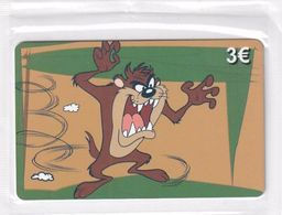 GREECE - Looney Tunes/Taz, Amimex Prepaid Card 3 Euro, Tirage 2000, Mint - Greece