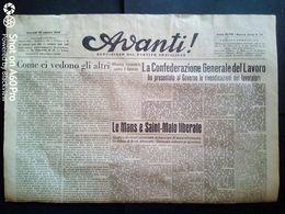 AVANTI (QUOTIDIANO DEL PARTITO SOCIALISTA) LOTTO X 2 DEL 11 E 12 AGOSTO 1944 - Guerra 1939-45