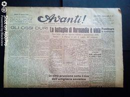 AVANTI (QUOTIDIANO DEL PARTITO SOCIALISTA) LOTTO X 2 DEL 19 E 20 AGOSTO 1944 - Guerra 1939-45