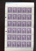 Belgie 1965 1321 Paul Hymans FULL SHEET Plaatnummer 3 - Full Sheets