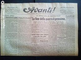 AVANTI (QUOTIDIANO DEL PARTITO SOCIALISTA) LOTTO X 6 DAL 22 AL 27 AGOSTO 1944 - Guerra 1939-45